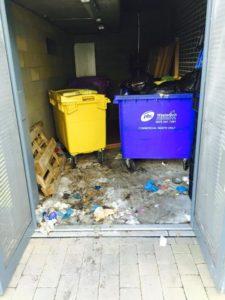 dirty bin store London