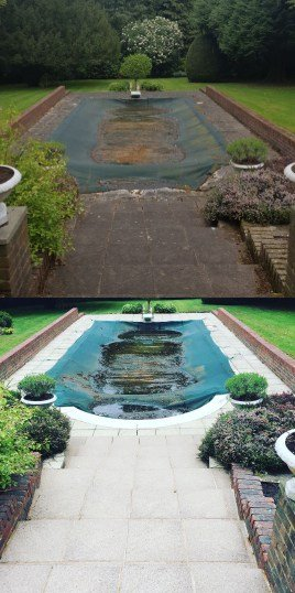 Before and After Pressure Washing with LBC Exterior Cleaning