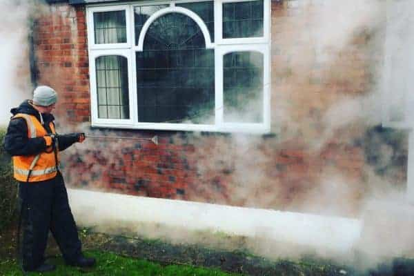 Brick steam cleaning