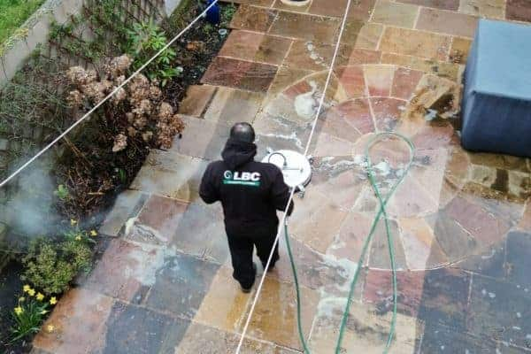 Surface Cleaning Patio SCrubber