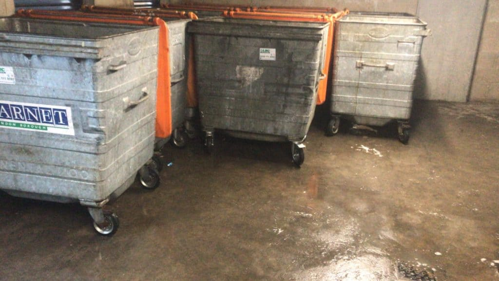 Bin wheel replacement service