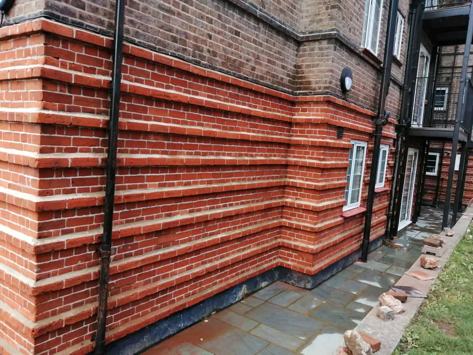 Steam clean brickwork